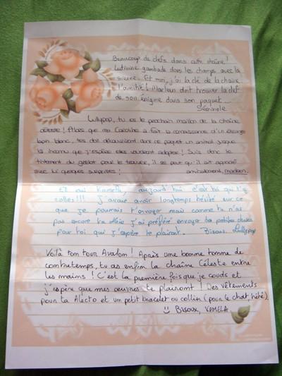 Chaîne Céleste 2010 n°1 [Galerie] - Page 7 Lettre11