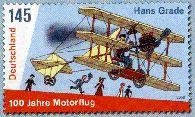 Sonderbriefmarke würdigt ersten Motorflug durch Hans Grade Grade_11