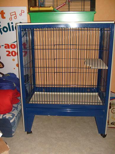 """Vends grande cage """"1/2 Chinchilla turquoise"""" Avant11"""
