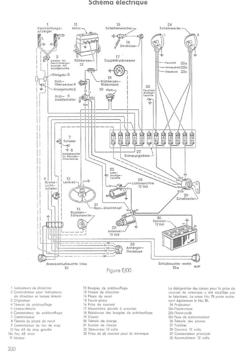 Circuit électrique de préchauffage Cablag10