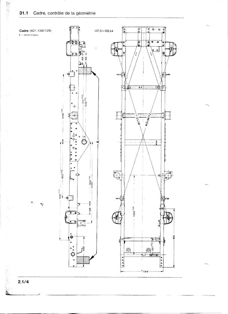 Ponts et tubes de poussée 421 Chassi12