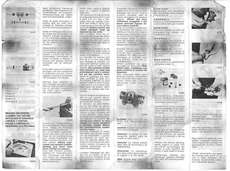 Kit réparation coupelles de frein ? Notice12