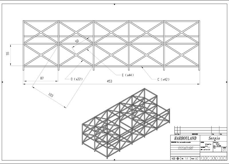 Construction d'une tribune sur ossature.... 0211
