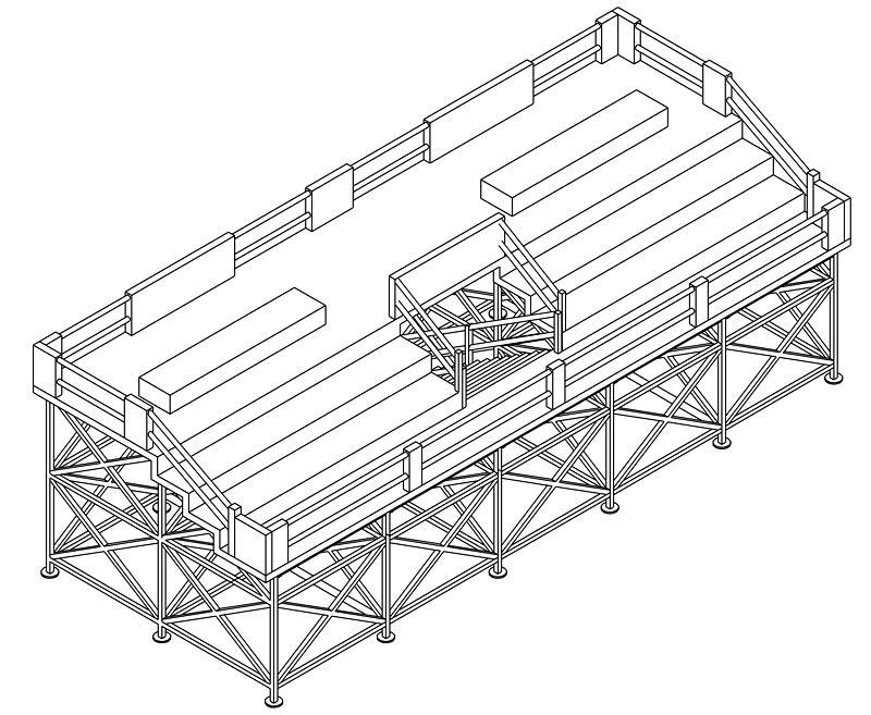 Construction d'une tribune sur ossature.... 0411