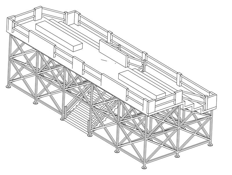 Construction d'une tribune sur ossature.... 0511