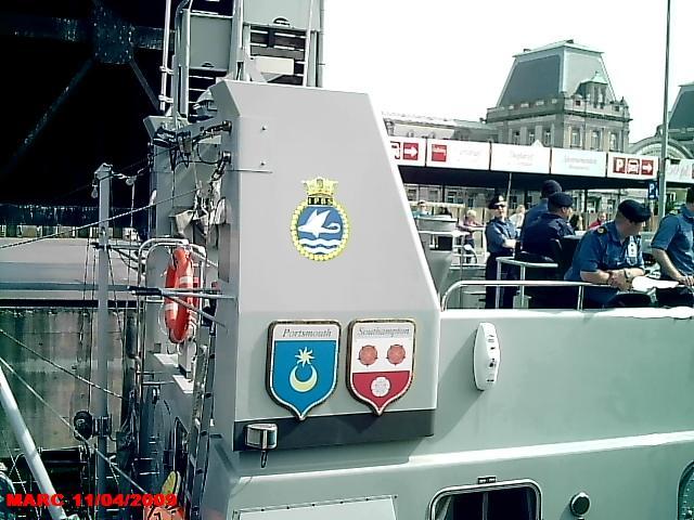 patrouilleurs de la Royal Navy en visite à Ostende 50400016