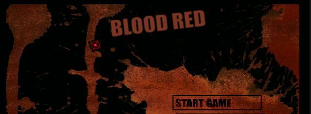 Krvavo červená