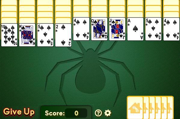 Hra Pavúči Solitaire