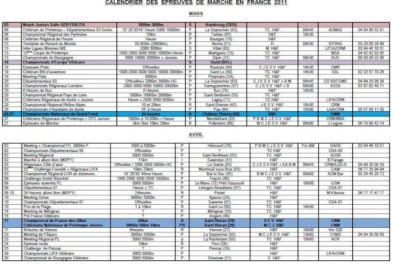 calendrier saison 2011 Xemard10