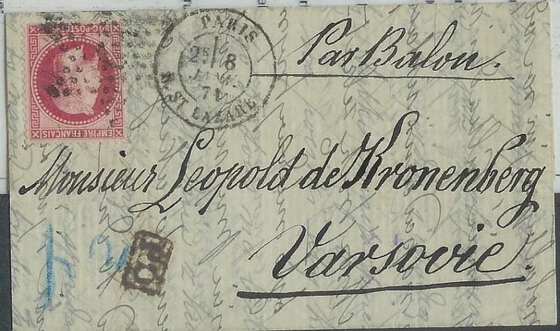 Frankreich  -  Poststücke mit Marken Type Napoleon 00000110