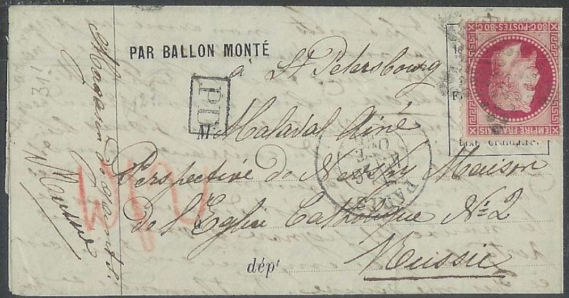 Frankreich  -  Poststücke mit Marken Type Napoleon 00000111
