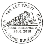 Eisenbahnstempel Tschechien mit Bezug zu Österreich 00000148