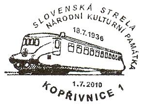 Eisenbahnstempel Tschechien mit Bezug zu Österreich 00000149