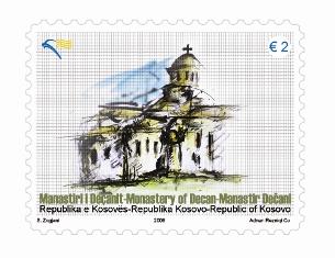 Empörung über Decani - Briefmarken der Kosovo-Post 0010