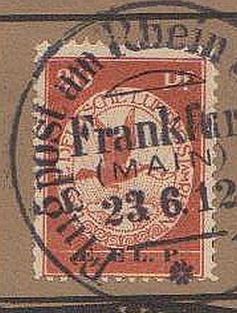 Flugpost 1912 am Rhein und Main Elp210