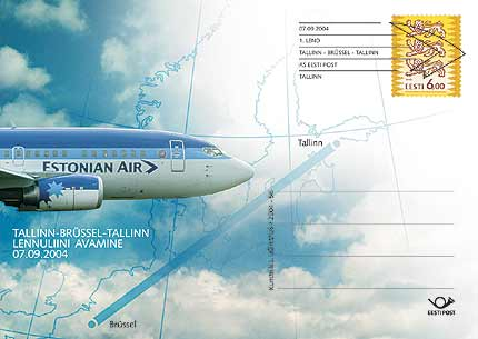 Erstflug Tallinn-Brüssel 2004 Estlan10