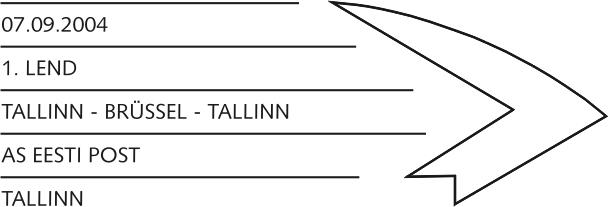 Erstflug Tallinn-Brüssel 2004 Estlan11