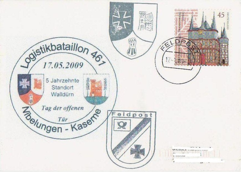 Sonderfeldpost der Bundeswehr in Walldürn Feldpo13