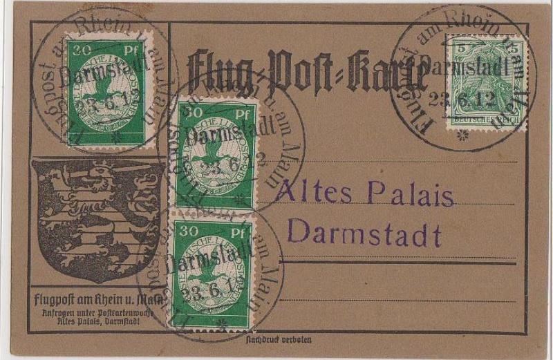 Flugpost 1912 am Rhein und Main Flugpo16