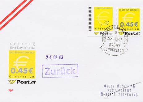 Österreich - Ergänzungsmarke  Forum13
