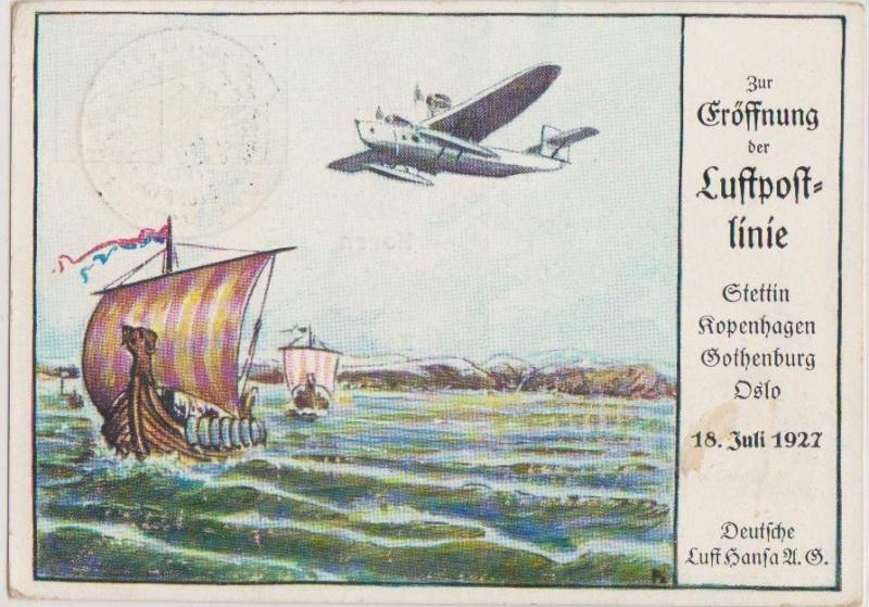 Flugpost-Ganzsache  1927 Forum_57