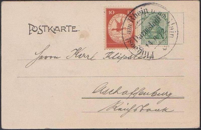 Flugpost 1912 am Rhein und Main Privat11