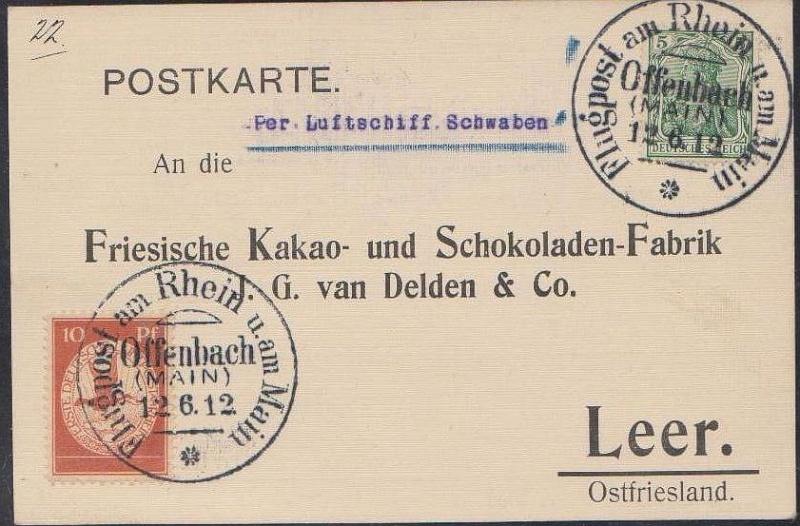Flugpost 1912 am Rhein und Main Privat12