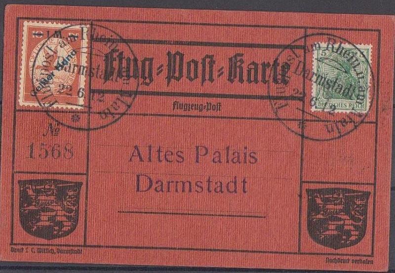 Flugpost 1912 am Rhein und Main Roter_11