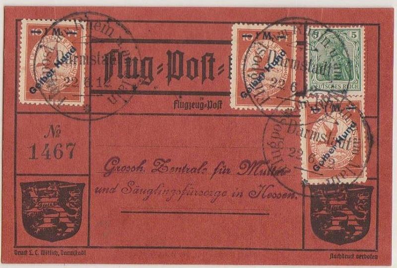 Flugpost 1912 am Rhein und Main Rotr_h10