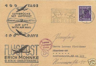 Brief 100 Tage Luftbrücke Berlin Zzzzzz22