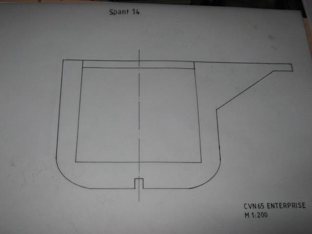 Planung des Flugzeugträgers CVN 65 Enterprise 1/200. Spante15