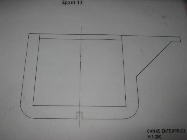 Planung des Flugzeugträgers CVN 65 Enterprise 1/200. Spante16