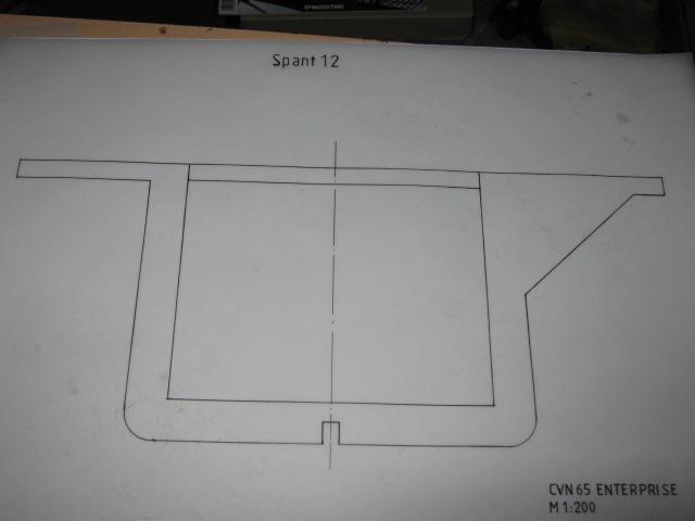 Planung des Flugzeugträgers CVN 65 Enterprise 1/200. Spante17
