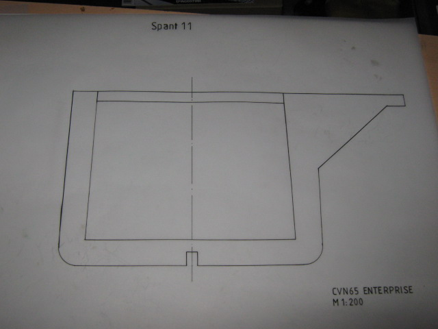 Planung des Flugzeugträgers CVN 65 Enterprise 1/200. Spante18