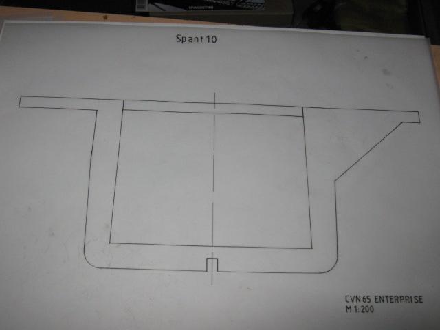Planung des Flugzeugträgers CVN 65 Enterprise 1/200. Spante19