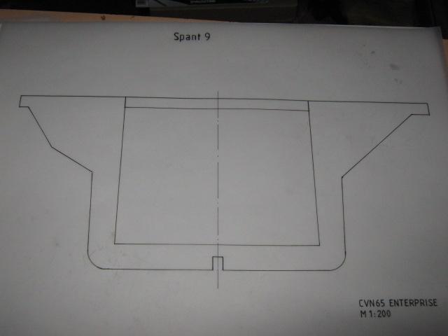 Planung des Flugzeugträgers CVN 65 Enterprise 1/200. Spante20
