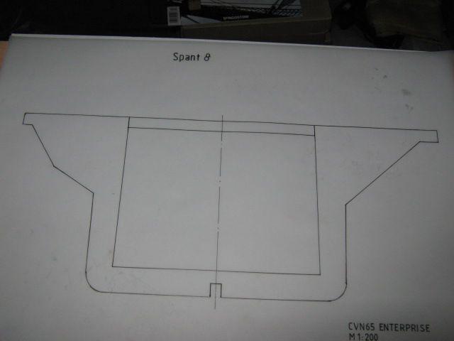 Planung des Flugzeugträgers CVN 65 Enterprise 1/200. Spante21