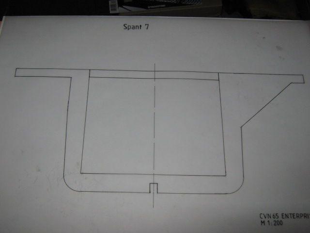Planung des Flugzeugträgers CVN 65 Enterprise 1/200. Spante22