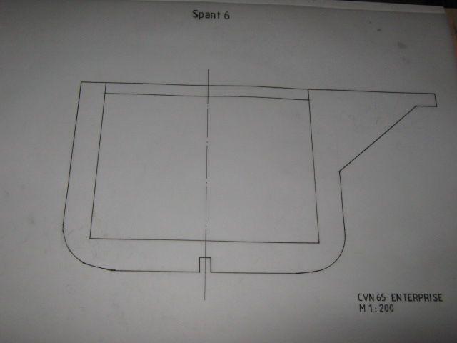 Planung des Flugzeugträgers CVN 65 Enterprise 1/200. Spante23