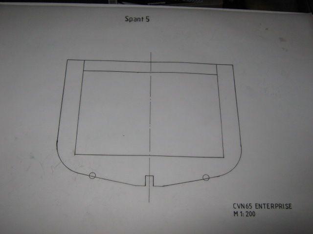 Planung des Flugzeugträgers CVN 65 Enterprise 1/200. Spante24