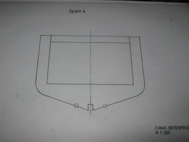 Planung des Flugzeugträgers CVN 65 Enterprise 1/200. Spante25