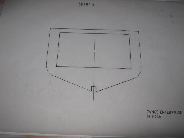 Planung des Flugzeugträgers CVN 65 Enterprise 1/200. Spante26