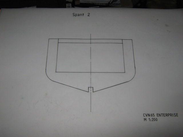 Planung des Flugzeugträgers CVN 65 Enterprise 1/200. Spante27