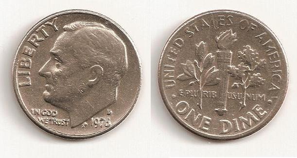 Ten cents de 1976, Denver 1_dime10