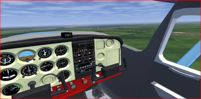 Tuto spécial débutant : Formation sur le c172p (tour de piste sur Nantes LFRS) 410
