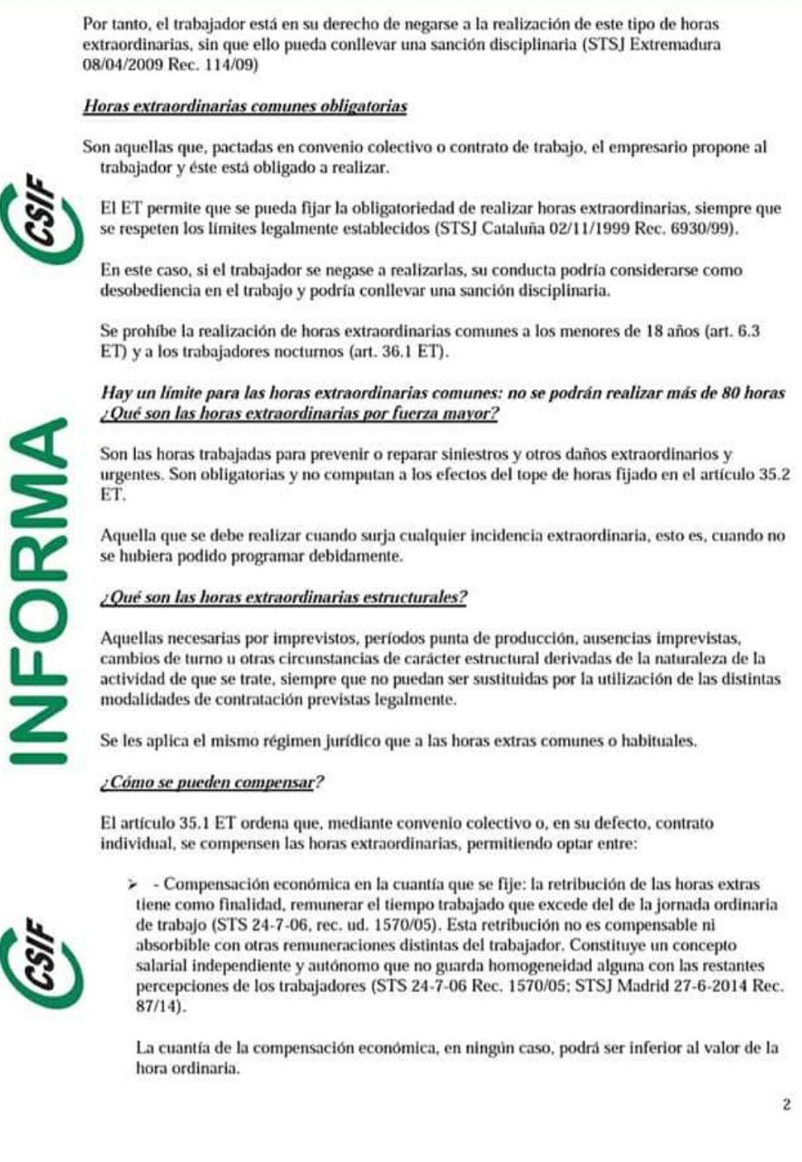 Horas Extras Csifho11
