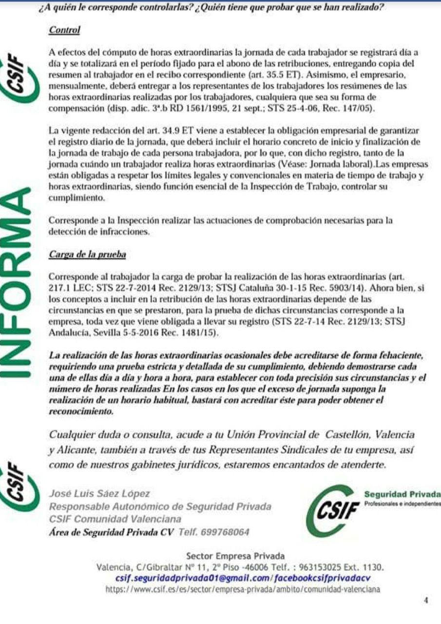 Horas Extras Csifho13