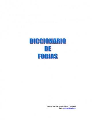 DICCIONARIO DE FOBIAS T8133310