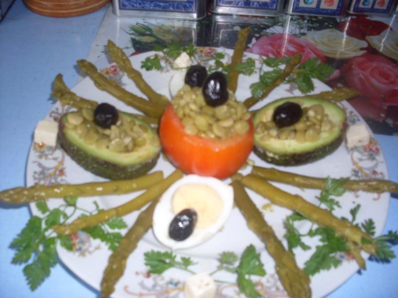 Salade  Composée aux Asperges Recett10