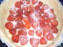 tourte aux fraises. Recett15
